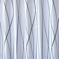 Waterproof Polyester Shower Curtain Modern Stripe Bathroom Curtain For Home/Hotel Bath black 120*180cm