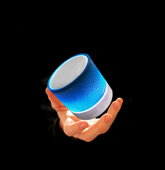 Burst Texture Mini Bluetooth Wireless Speaker Large Sound Usb Play TF-card Play with Charge Cable blue 350mAh 3W