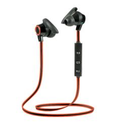 Waterproof Bluetooth Headset Mini in-ear Headphones Control Button Super-lightweight Earbuds red