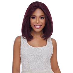 Medium Long Straight Red Wine Color Wig Adjustable Size Shoulder Length Wig and Free Wig Cap red wine 30cm