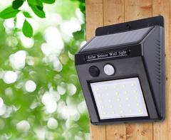 6W 25LED Solar Energy Street Light 9.6*5*12.5cm Solar Sensor Wall Light black 12.5*9.6*5cm 6w