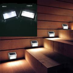3LED Outdoor Stair Garden Solar Energy Automatic Sensing Control Light black 10*8.2*2cm 0.1w