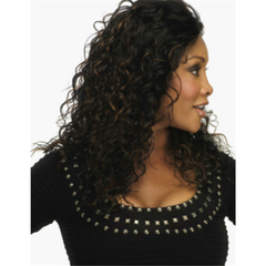 Ladies Wigs European And American Style Corn Hot Long Curly Hair Chemical Fiber Wig black 60cm