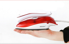 800W Around 6inch Steam Iron Powerful Vapor Make Clothing No Wrinkles Widely used in Europe red