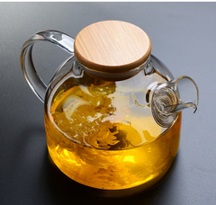 1.8L Herbal Tea Liang Cha Ice-Juice Glass Kettle 1000ml