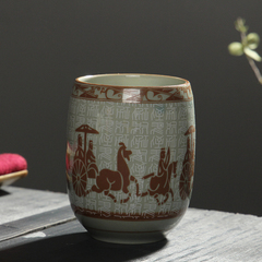 180ml Chinese Cultural Tea Cups Traditional East Asian Culture Cup MaChe 180ml