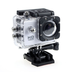 Sports Camera Waterproof 4 Times Zoom Camera 30FPS With Screen And Up To 400mAh Battery No TF-Card white 2inh screen