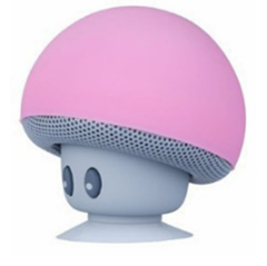 Mushroom head Bluetooth Wireless Music Player About 1h Working Not Worth Buying pink
