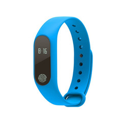 Fitness Activity  Tracker With Heart Rate Smart Wristband Pedometer Sleep Monitor Bluetooth Bracelet blue 0.69in
