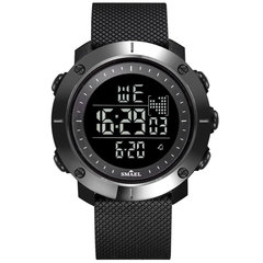 Digital Outdoor Sport Watch Waterproof Single Display Electronic Quartz Movement Wrist Watch black 4.8cm