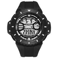 Waterproof Sports Digital Watch Comfortable Band High Strength Plastic Window Electronic Display black 5.5cm