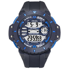 Waterproof Sports Digital Watch Comfortable Band High Strength Plastic Window Electronic Display navy 5.5cm
