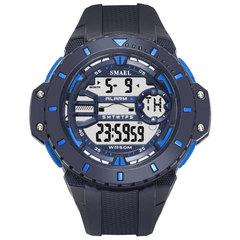 Waterproof Sports Digital Watch Comfortable Band High Strength Plastic Window Electronic Display navy 5.5cm