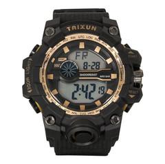 Outdoor multi-function Waterproof Watch Students Multi-Function Outdoor Sports Electronic Watch gold 5.5cm