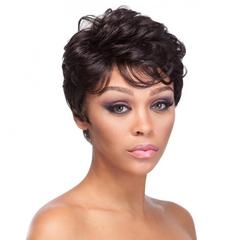 Curly Short Wig Fashion Wig Curly Bobo Wig Lady Curly Hair black 15cm