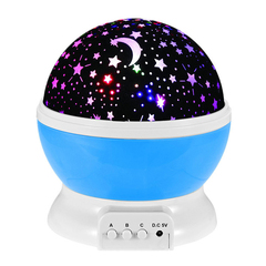 Home Decoration USB Mood Light for Baby Nursery Bedroom Living Room USB Lamp Rotating Lamp blue 12*12*13.5cm 1w