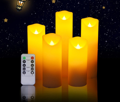 Wedding Candle LED Church LED Cathedral LED Hotel Or Dinner Motion Light 5 in 1 white 5.3*20cm 1w