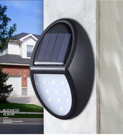 5W 600LM Solar Wall Light 1000mAh Garden Light House Wall Light Balcony Wall Light black 12*7.5*5cm 5w