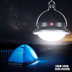 300LM 60LED Solar Camping Light 1800mAh Garden Light SOS Mode Support Mountain Hiking Light black 13*10*5cm 6w