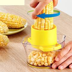 Corn Stripper Circular Threshing Corn Scraper Pitter Corer Peeler Thresher Cob Kerneler Cutter yellow 15*15*8cm