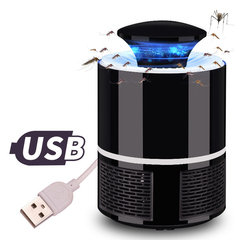 Newest USB Electric Bug Killer Mosquito Repellent Odorless Mosquito Killer Bugs Zapper Fly Zapper black 12*12*19cm