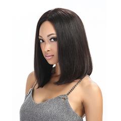 Mid-Point Long Straight Black Wig Woman Wig Black Wig 60cm black 60cm