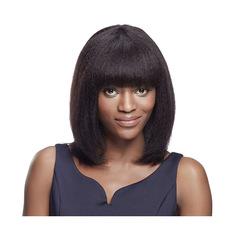 Short Curly Wig Woman Bobo Hair Fluffy Wig Black Wig 50cm black 50cm