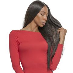Wig Mid Point Long Straight Woman Wig Black Wig 60cm black 70cm