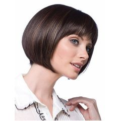 Bobo Wig Mid Point Short Straight Woman Wig Brown Wig 30cm brown 30cm