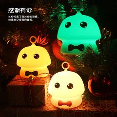 1W 5V 1200mAh Color USB Rechangeable Rechargeable Cute Light Bedside Lamp black 9.7x9.7x11.5cm 1w