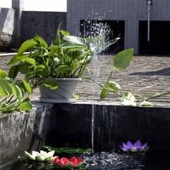 Solar Outdoor Water Fountain Garden Fountain Water Column About 110cm black 16*16cm