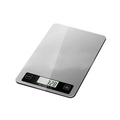Kitchen Electronic Scale 4 Optional Metrics ABS+Tempered Glass Scale sliver 21*14*2.5cm