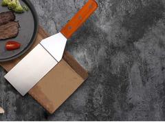Steak Shovel Pizza Baking Kitchen Tool Flat Outdoor BBQ Stainless Steel Non-Stick Cooking Kit dense 31*7.3cm