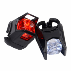 White And Red Per Piece Bicycle TailLight Rear Light Powered By Button Battery white and red