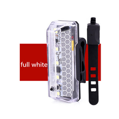 Bicycle Taillight USB Chargeable Waterproof Bicycle LED Rear Light Taillight 5 Lighting Modes white