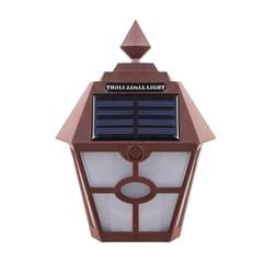 0.4w 600mAh ABS Waterproof Solar Garden Light bw-white 14*14*19cm 0.4w