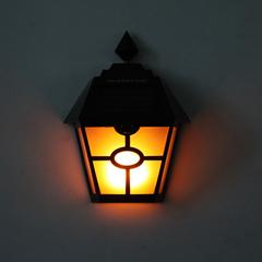 0.2w 600mAh Waterproof Solar Garden Light Warm Light black 20*16*6.5cm 0.2w