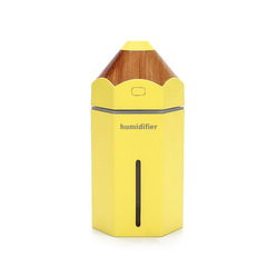 230ml USB Powered Cool Mist Humidifier With 7 Color LED Lights Changing yellow 9*9*15cm
