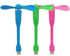 Bendable USB Fan green 14.5*9cm