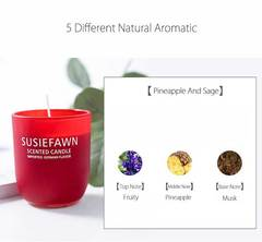 West Aromatherapy Candles Stess Relief Candles Spa red 7*7*8cm candle