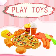 15Pcs/Kit Kitchen Toys Children Plastic Pizza Food Slice Cutting all normal
