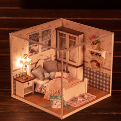 Baby Diy Miniature Musical Doll House for Kids Dolls Houses Dollhouse Furniture Toys suit normal