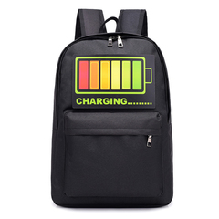 Intelligent Voice Control Cool Flashing Light Backpack For Teenager Bags Backpac Laptop Backpack yellow large