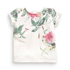 Girls Flower T Shirt Basic White Baby Clothing Floral Print T-Shirts for Girl Short Sleeve Tops Tees white 18m