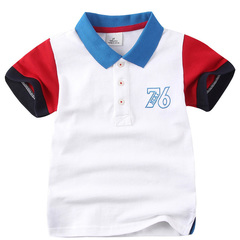 Boys Polo Shirts Kids Short Sleeve Clothing Summer Casual Polo-Shirt Baby Fashion Tops white 5t