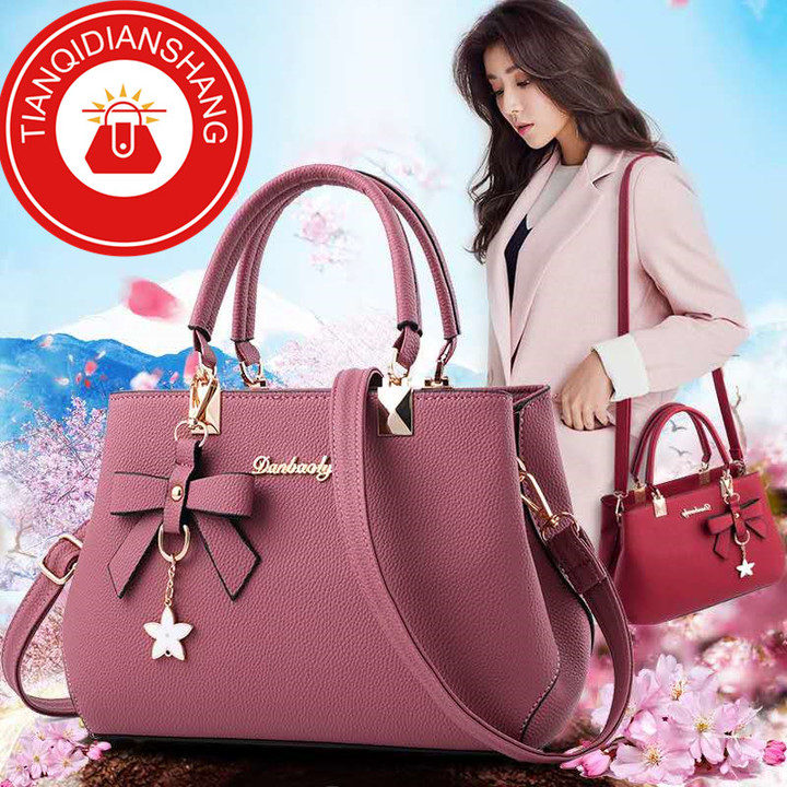 2019 explosion promotion, affordable, exquisite pouch, one shoulder slung pouch pink ordinary tianqidianshang pu 23