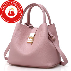 TQDS 2019 hot sale, Pu patent leather, one shoulder, crossbody, high quality lady handbag pale red ordinary
