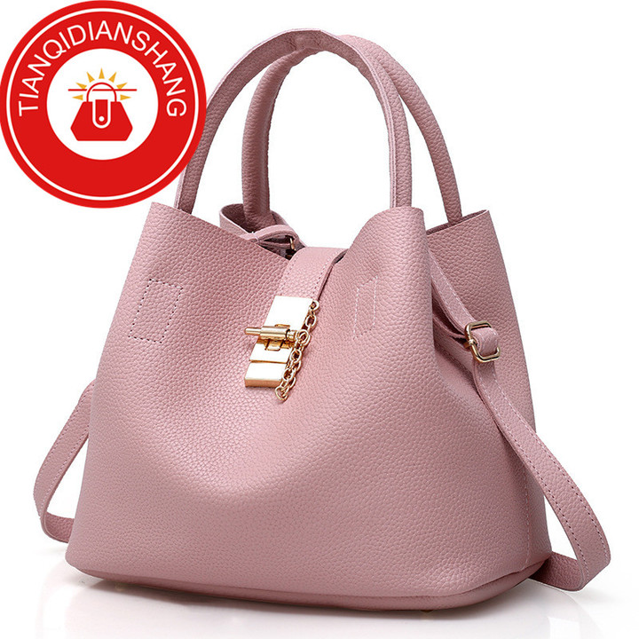 2019 explosion promotion, affordable, exquisite pouch, one shoulder slung pouch pink ordinary tianqidianshang pu 30