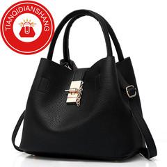 TQDS 2019 hot sale, Pu patent leather, one shoulder, crossbody, high quality lady handbag black ordinary