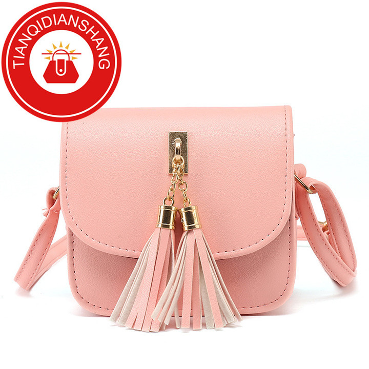 2019 explosion promotion, affordable, exquisite pouch, one shoulder slung pouch pink ordinary tianqidianshang pu 4